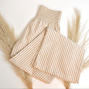 Boutique brand High waisted striped pants